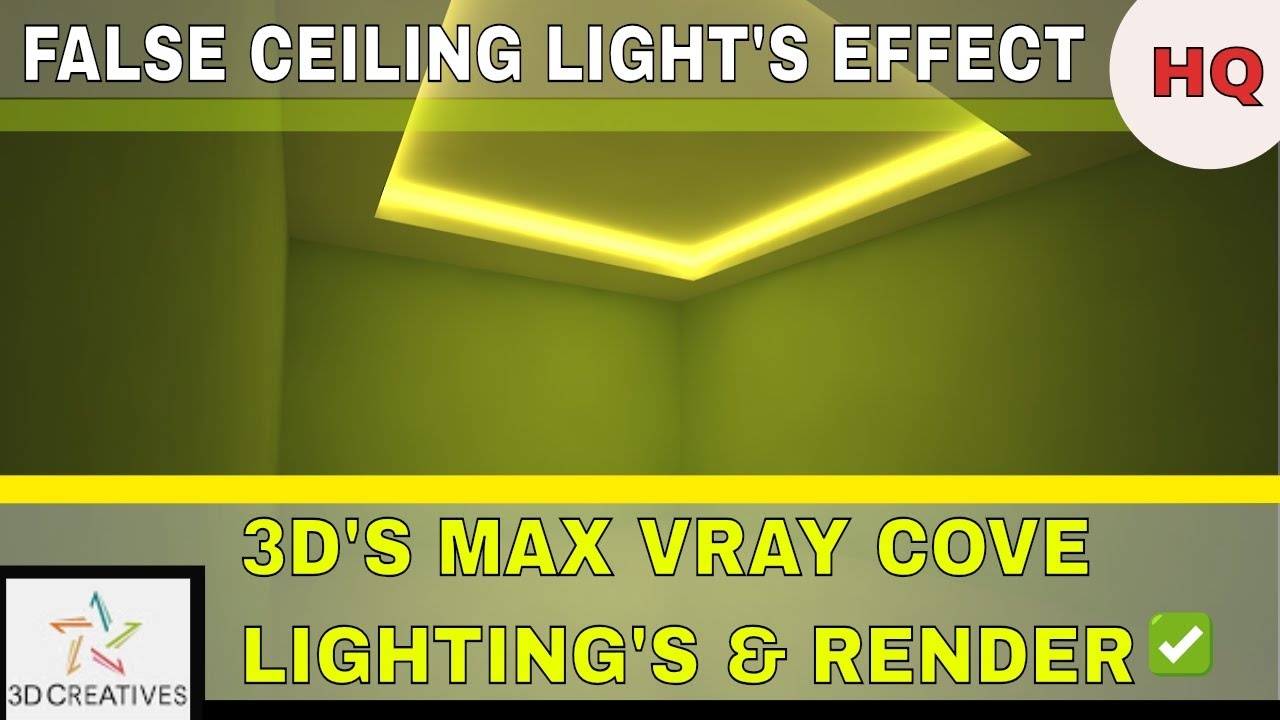 3dsmax vray cove lighting and render settings hindi tutorial