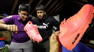 Popping AIR BUBBLE on $200 AIR MAX *PRANK* (on big brother)
