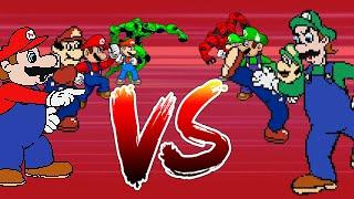 Mugen: Team Mario Vs Team Luigi (4v4 Battle)