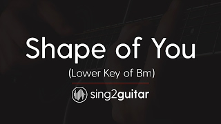 Shape of You (Lower Bm) [Acoustic Guitar Karaoke] Ed Sheeran