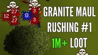 Runescape 2007 - Granite Maul Rushing #1 - 1M+ Loot