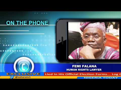 """""""Jonathan Can Be Accused Of Negligence, But Certainly Not For Crimes Against Humanity"""" Femi Falana"""