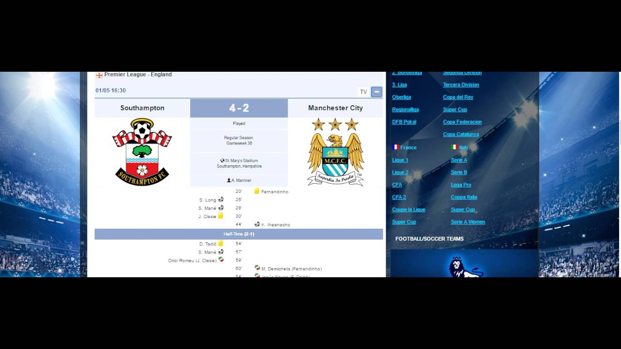 Matchscore123 Footballsoccer Scores Results Fixtures Today