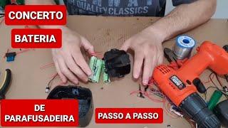 CONSERTO BATERIA DE PARAFUSADEIRA 12 V