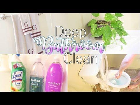 BATHROOM DEEP CLEAN | FALL CLEANING ROUTINE