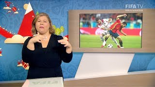 fifa wc 2018 - esp vs mar  for deaf and hard of hearing - international sign