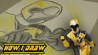 Ninja Steel Yellow Ranger - How I Draw