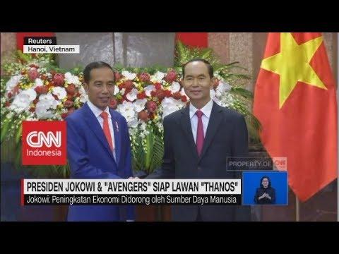 """Presiden Jokowi Dan """"Avengers"""" Siap Lawan """"Thanos"""""""