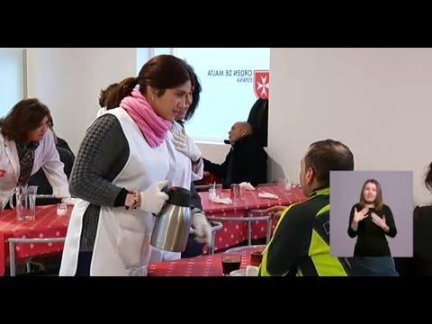 Nuevo comedor social de la Orden de Malta en Madrid - YouTube