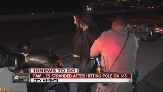 drunk driver hits pole causes flat tires for many
