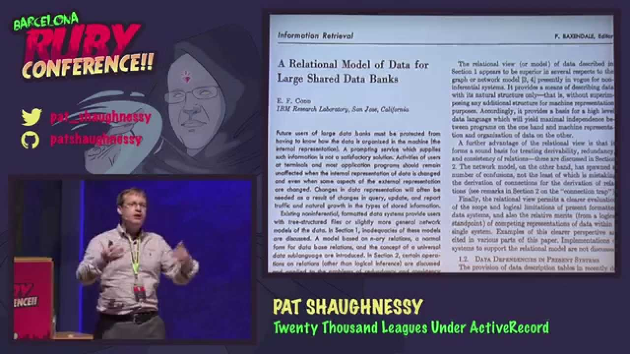 Pat Shaughnessy - Twenty Thousand Leagues Under ActiveRecord