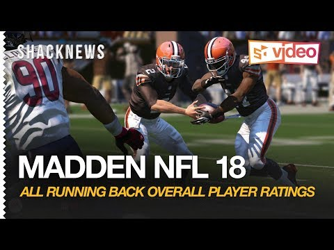 Madden NFL 18: All Running Back Overall Player Ratings