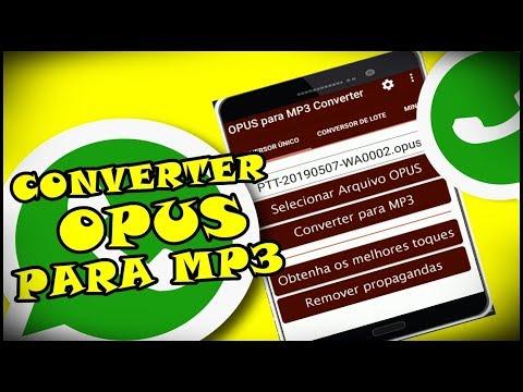 Como Converter Arquivos de Áudio OPUS Para Arquivos de Áudio MP3 No Android