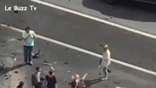 فيديو.. نجاة الرئيس الروسي من حادث تصادم بسيارة الرئاسة