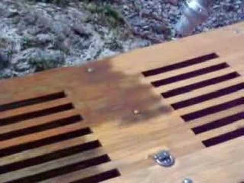 Soda Blasting Teak Dive Platform by Gornall Construction