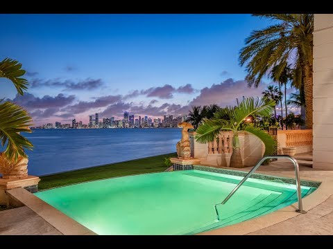 Exquisite Bayfront Villa On The Exclusive Fisher Island -- Lifestyle Production Group
