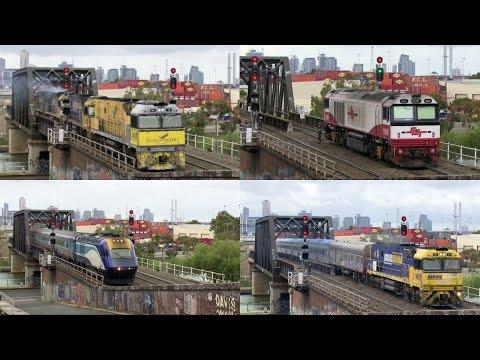 Trains At Bunbury Street, Melbourne - PoathTV Australian Trains & Railways
