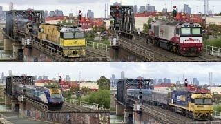 Trains At Bunbury Street, Melbourne - PoathTV Australian Trains & Railways thumbnail