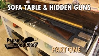 Hidden Gun Storage Sofa Table Bookcase Furniture Part 1