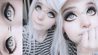 Big anime doll eyes tutorial