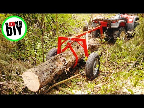 Using The Homemade Log Arch For ATV