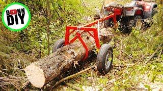 Using The Homemade Log Arch For ATV