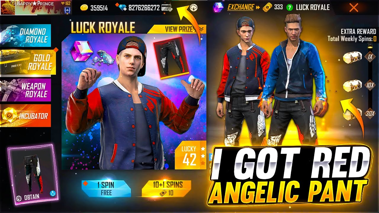 I Got New Red Angelic Pant😍 Buying 40,000💎 Diamond - Garena Free Fire