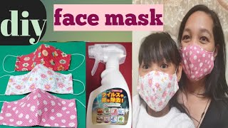 DIY fabric face mask Coronavirus prevention