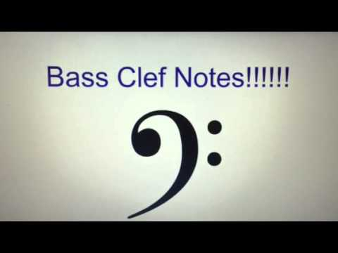 Scale, Key of C, Bass Clef Notes