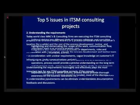 Kiran Pabbathi: Top 5 issues in ITSM consulting TFT14