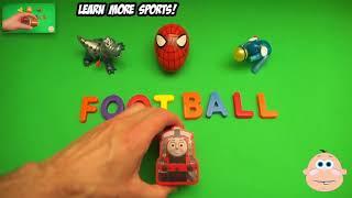 Детское Удивление Яйцо Узнать Слово! Правописание Спорта! Урок 13 (Преподавание Букв, Открывающих Я