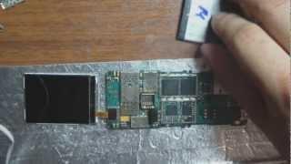 Nokia 6300 чистка от коррозии.