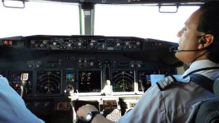 ln noq 737 800wl landing at bgo vfr rwy17 cockpit hd
