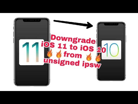 how to downgrade ios 11 to ios 10 from unsigned ipsw
