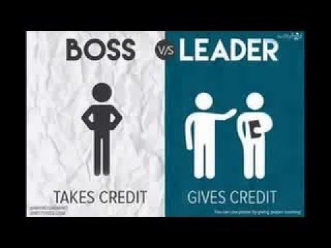 Boss vs Leader - YouTube