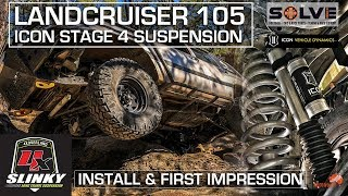 Landcruiser Slinky Long Travel ICON Stage 4 Suspension Install & First Impressions ALLOFFROAD #143