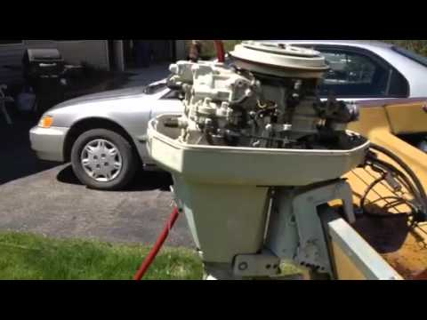 hqdefault 45 hp chrysler outboard motor, electric start with controls and keys