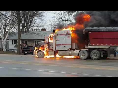 Truck Fire In Alliston Ontario Feb 23 2017