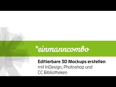 Editierbare 3D Mockups erstellen mit InDesign und Photoshop