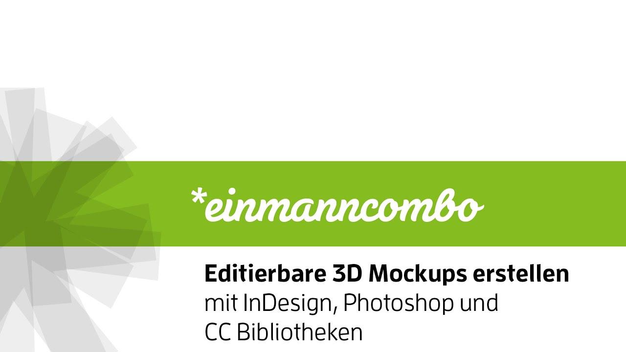 Editierbare 3D Mockups mit InDesign & Photoshop erstellen ...