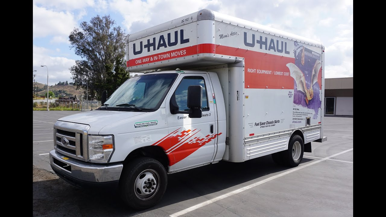 d32c735f35 15  U Haul Truck Video Review Rental Box Van Rent Pods How To - YouTube