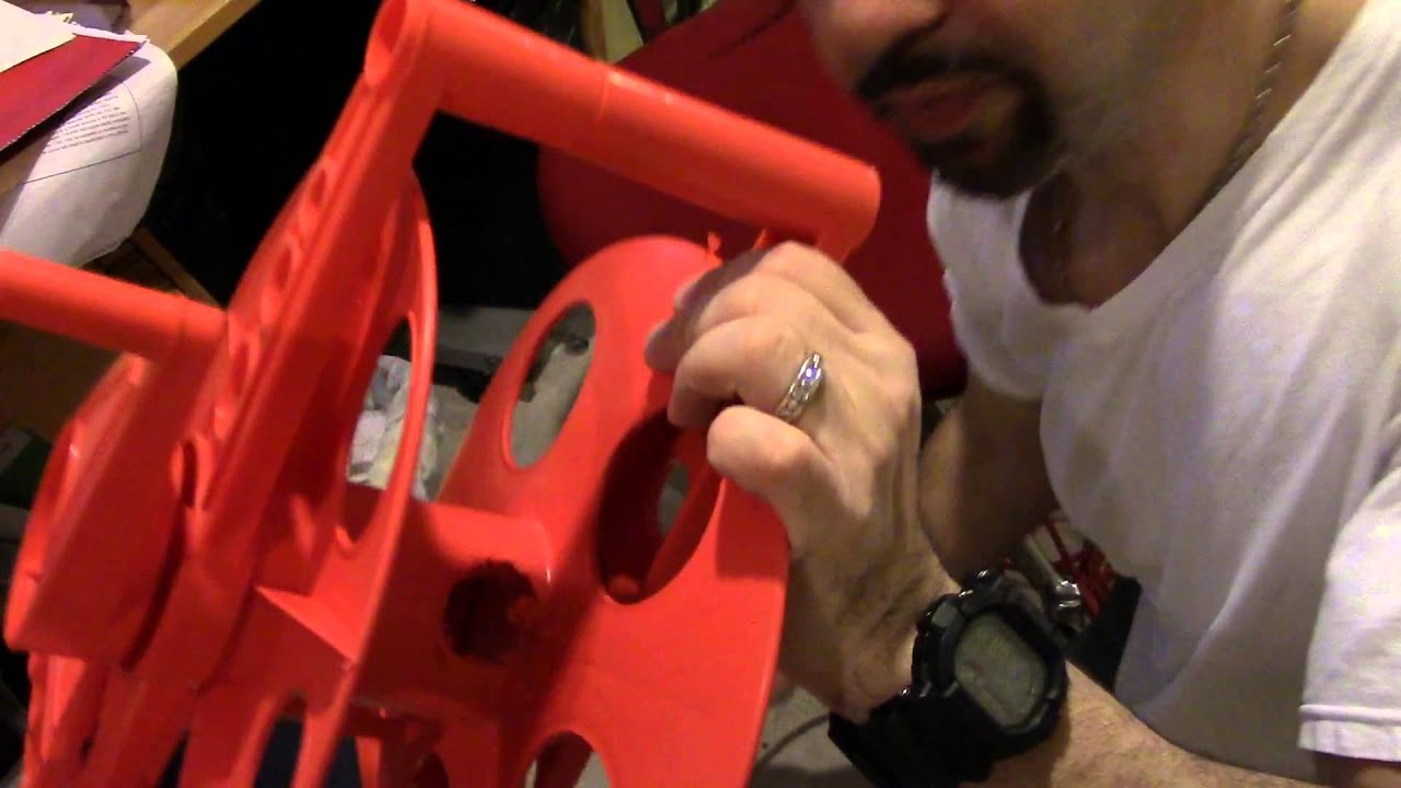 Retractable Extension Cord Reel >> Make your own Extension cord retractable reel - YouTube