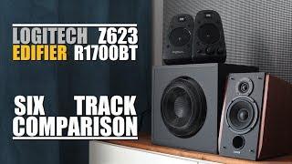 Logitech Z623 vs Edifier R1700BT      6-Track Comparison