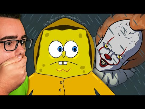 Reacting to PENNYWISE Finding SPONGEBOB!! |
