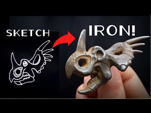 DIY Sculpting and Casting Iron Styracosaurus Fossils for 100k!
