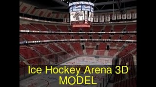 3D Model of Ice Hockey Arena Review