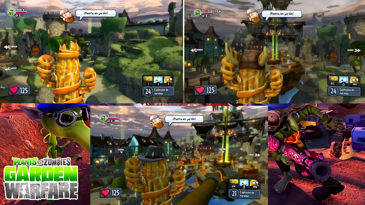 Plants Vs Zombies Garden Warfare Parte 63 Pc Vs Ps4 Vs Xbox One Youtube