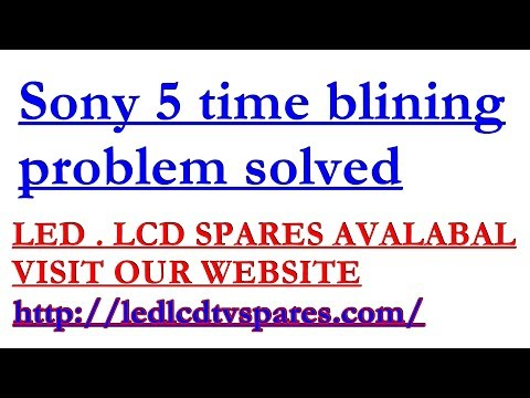 how to fix a sony tv that wont turn on