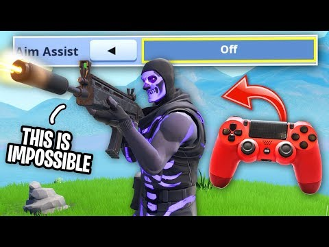I Tried Controller WITHOUT AIM ASSIST on Fortnite... (PC vs Console)