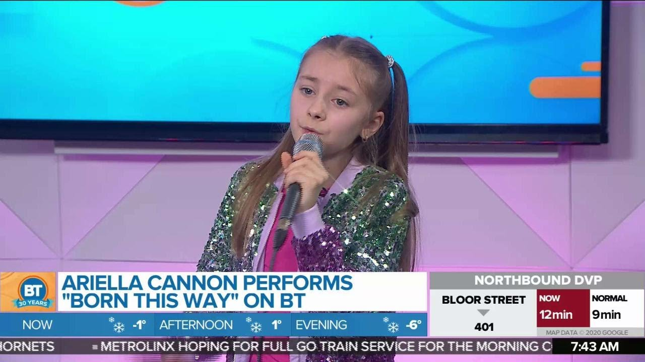 Ariella Cannon Performs 'Born This Way' on BT!